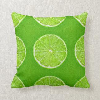 Lemon Green Throw Pillow : Slice Of Lime Pillows - Decorative & Throw Pillows Zazzle