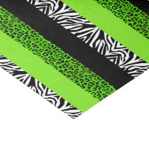Lime Green Leopard and Zebra Animal Print Tissue Paper