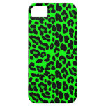 Lime green  Leopard Print Punk Goth iPhone 5 Cases