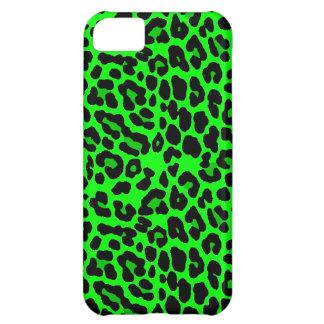 Lime green  Leopard Print Punk Goth iPhone 5C Cover