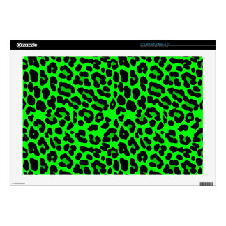 """Lime green Leopard Print Punk Goth Skin For 17"""" Laptop"""