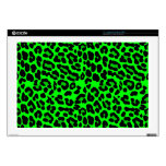 Lime green  Leopard Print Punk Goth Skins For Laptops