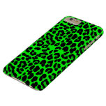 Lime green Leopard Punk Goth Barely There iPhone 6 Plus Case