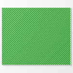 [ Thumbnail: Lime Green, Light Green, and Dark Green Lines Wrapping Paper ]
