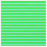 [ Thumbnail: Lime, Green & Light Grey Colored Stripes Fabric ]
