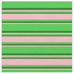 [ Thumbnail: Lime Green, Light Pink & Dark Green Colored Lines Fabric ]