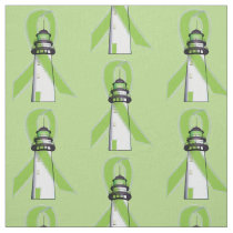Lime Green Lighthouse of Hope Fabric