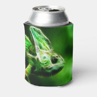 Lime Green Lizard Can Cooler