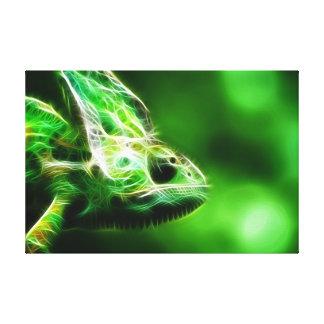 Lime Green Lizard Canvas Print