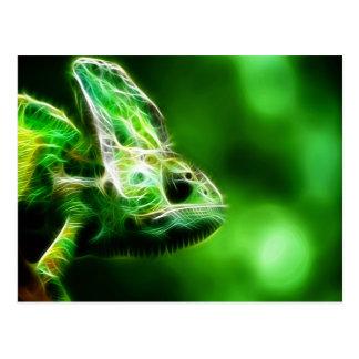 Lime Green Lizard Postcard