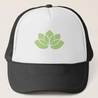 Lime Green Lotus Flower Trucker Hat