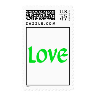 Lime Green Love Postage