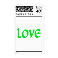 Lime Green Love Postage Stamp