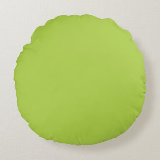 Lime Green Round Pillow