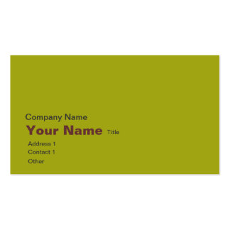 Lime green maps business cards