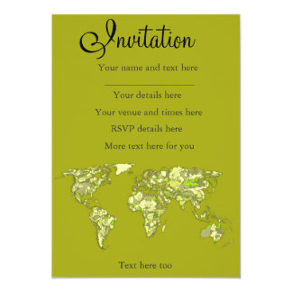 Lime green maps card