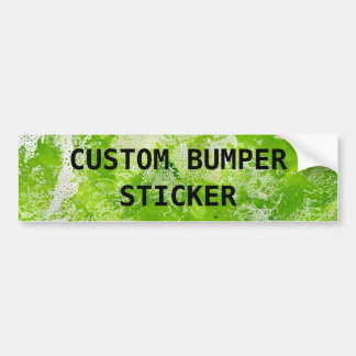 Lime Green Marble Background Add Your Own Text Bumper Sticker
