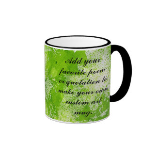 Lime Green Marble Background Add Your Own Text Coffee Mug