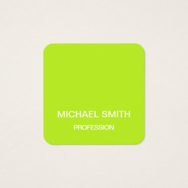 Professional Business Lime green minimalist trendy business card