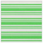 [ Thumbnail: Lime Green & Mint Cream Striped Pattern Fabric ]