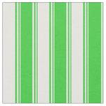 [ Thumbnail: Lime Green & Mint Cream Stripes Pattern Fabric ]
