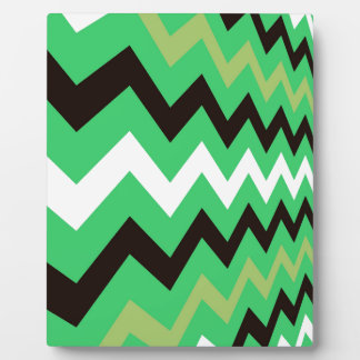 Lime Green Mixed Chevrons Plaque