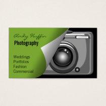 lime green Mod Photoraphy, camera Business Card