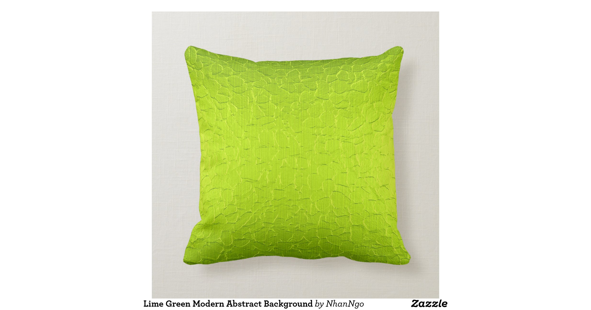 Modern Green Pillow : Lime Green Modern Abstract Background Pillow Zazzle