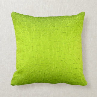 Lime Green Modern Abstract Background Pillow