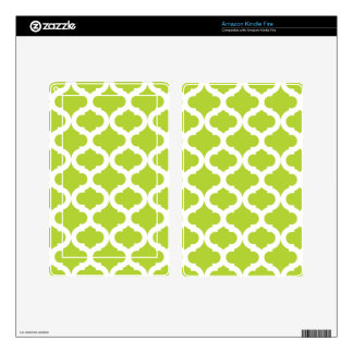 Lime Green Moroccan Pattern Decal For Kindle Fire