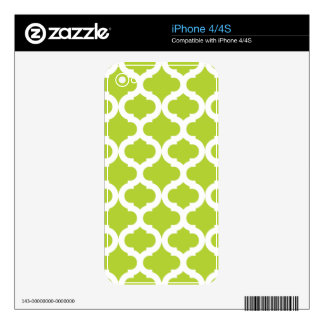 Lime Green Moroccan Pattern Decals For The iPhone 4
