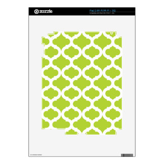 Lime Green Moroccan Pattern iPad 2 Decals