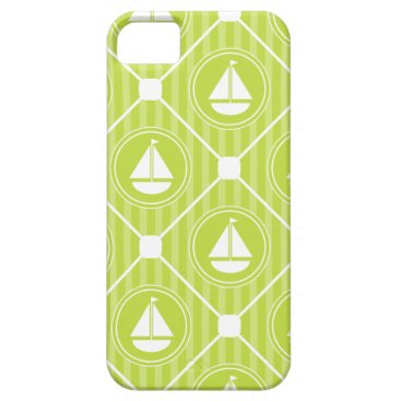 Beach Themed Lime Green Nautical Sailboat iPhone SE/5/5s Case