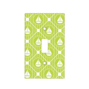 Beach Themed Lime Green Nautical Sailboat Light Switch Cover