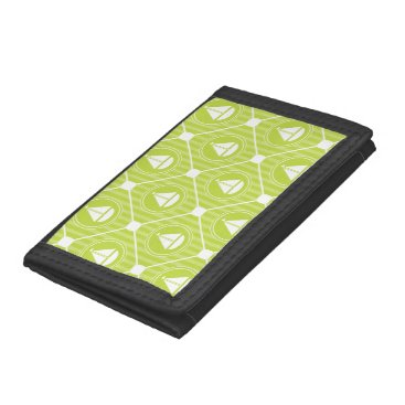 Beach Themed Lime Green Nautical Sailboat Trifold Wallets