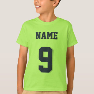 Lime Green & Navy Kids | Sports Jersey Design T-Shirt