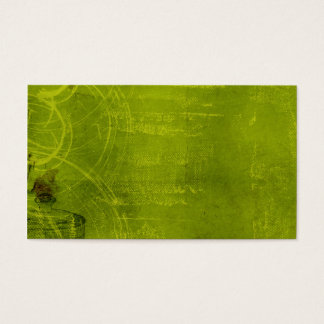LIme Green Neon Halloween Themed Background Business Card