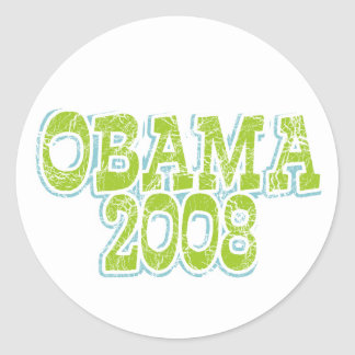 Lime Green Obama Sticker