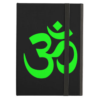 Lime Green Om Symbol iPad Air Cover
