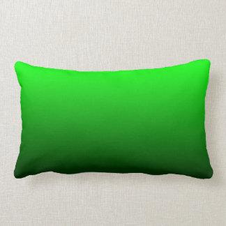Lime Green Ombre Lumbar Pillow