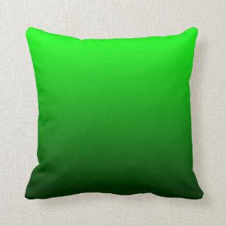 Lime Green Ombre Throw Pillows
