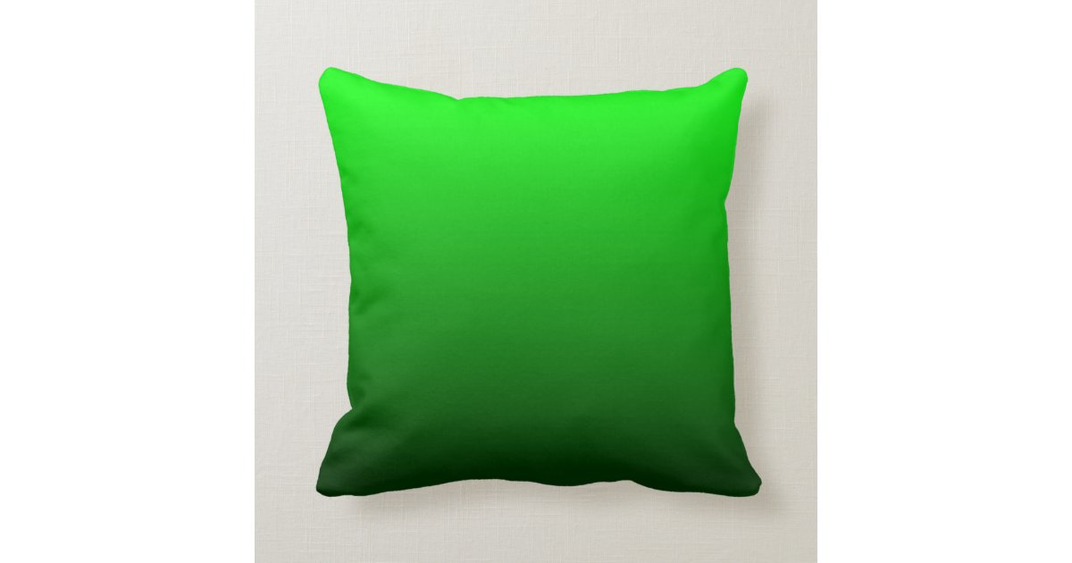 Lime Green Ombre Throw Pillow Zazzle.com
