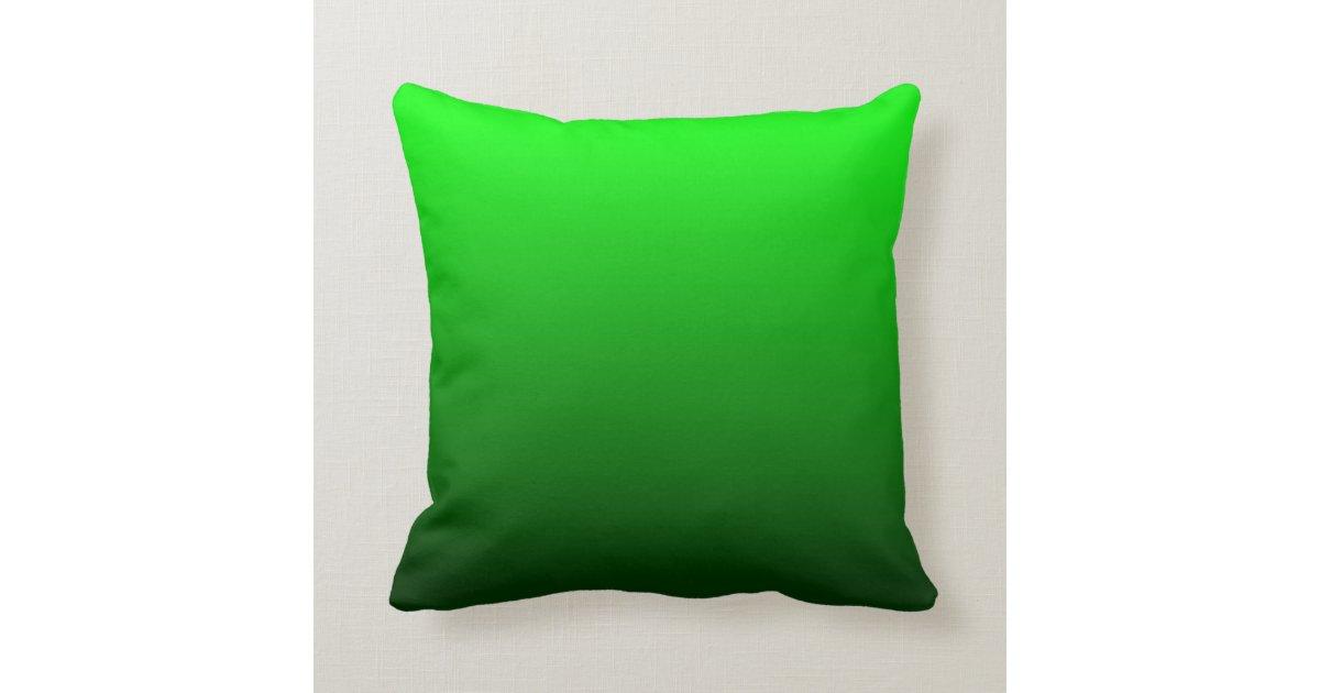 Lemon Green Throw Pillow : Lime Green Ombre Throw Pillow Zazzle.com