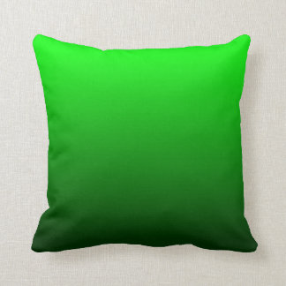 Lime Green Ombre Throw Pillow