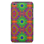 Lime Green Orange and Purple Stars Mandala iPod Touch Case-Mate Case