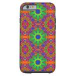 Lime Green Orange and Purple Stars Mandala iPhone 6 Case