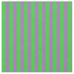 [ Thumbnail: Lime Green & Orchid Striped/Lined Pattern Fabric ]