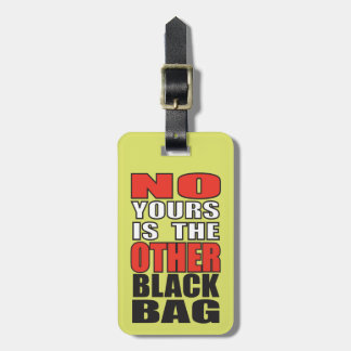 Lime Green Other Black Bag Luggage Tag