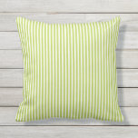 "Lime Green Outdoor Pillows - Oxford Stripe<br><div class=""desc"">Lime Green summer Oxford Stripe pillows for outdoors. Made in the USA. Vivid high quality printing. UV and mildew resistant garden or patio pillows with modern striped designs in vibrant on-trend colors. Available in 16&quot; or 20&quot; square and 13&quot; by 21&quot; rectangular sizes. Insert included. (Also available as an interior...</div>"