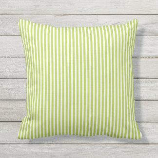 Lime Green Outdoor Pillows   Oxford Stripe